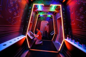 Interactive adventure room design created for 5 Wits