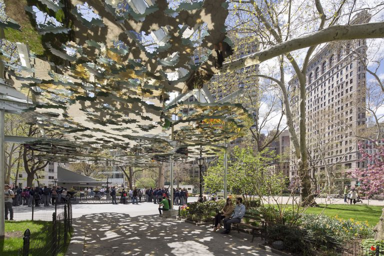 Fata Morgana Outdoor Sculpture at Madison Square Garden Created by Teresita Fernadez