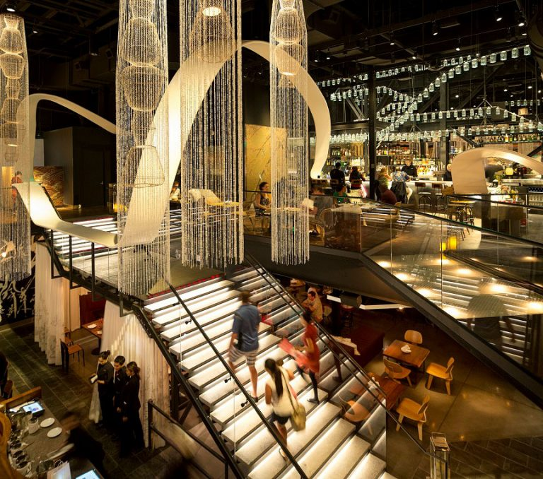 Morimoto Restaurant lighting design