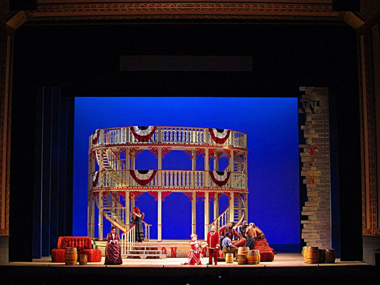 Show Boat set design for Lyric Opera of Chicago